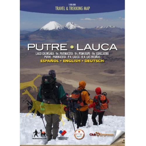 Putre-Lauca 1:100.000 9789568925079  Viachile Editores Trekking Maps  Wandelkaarten Chili