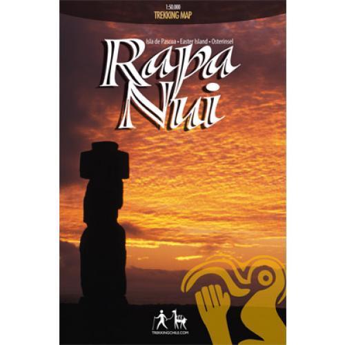 Trekking Map Rapa Nui (Paas Eiland) 1:50 000 9789568925086  Viachile Editores Trekking Maps  Wandelkaarten Chili, Argentinië, Patagonië