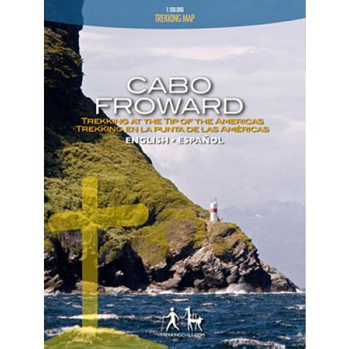 Trekking Map Cabo Froward 1:100 000 9789568925123  Viachile Editores Trekking Maps  Wandelkaarten Patagonië