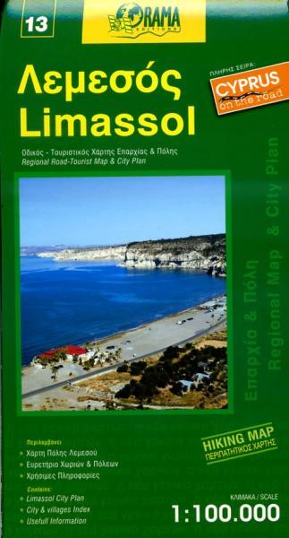 Limassol (13) 9789604486700  Orama Cyprus 1:100.000  Landkaarten en wegenkaarten Cyprus
