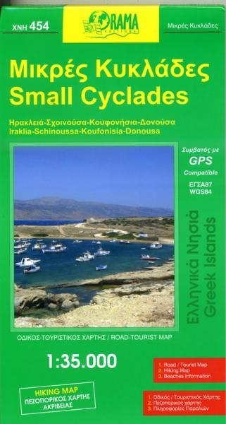 XNH454 Small Cyclades 1:35.000 9789604486946  Orama Greek Islands  Landkaarten en wegenkaarten Egeïsche Eilanden
