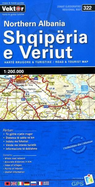 Noord-Albanië 1:200.000 9789604487752  Vektor   Landkaarten en wegenkaarten Albanië