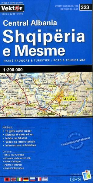 Centraal-Albanië 1:200.000 9789604487769  Vektor   Landkaarten en wegenkaarten Albanië