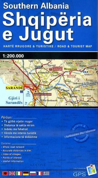 Zuid-Albanië 1:200.000 9789604487776  Vektor   Landkaarten en wegenkaarten Albanië