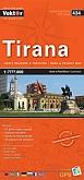 Tirana 1:10.000 9789604488476  Vektor   Stadsplattegronden Albanië