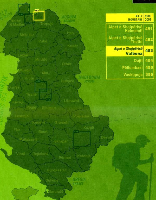 Valbona 1:30.000 9789604489008  Vektor   Landkaarten en wegenkaarten Albanië