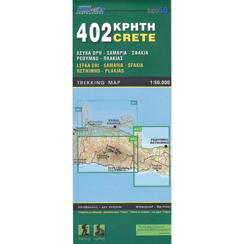RE-402 Kreta: Lefka Ori-Samaria, Rethimno 1:50.000 9789604489503  Road Editions   Wandelkaarten Kreta