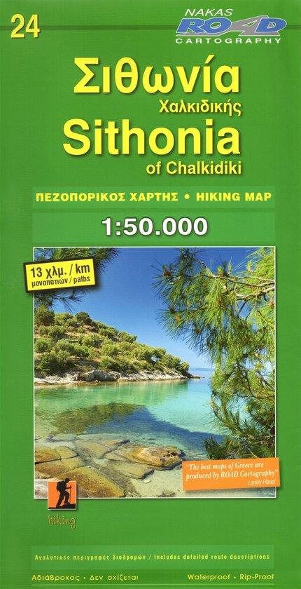 Sithonia 1:50.000 (wandelkaart, deel van Chalkidiki) 9789604489756  Road Editions Ltd. Greek Mountains  Wandelkaarten Midden en Noord-Griekenland, Athene