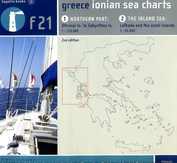 Ionian Sea Charts 9789606685477 Nikos Thermos, Hydographic Service Fagotto Books   Watersportboeken Ionische Eilanden (Korfoe, Lefkas, etc.)
