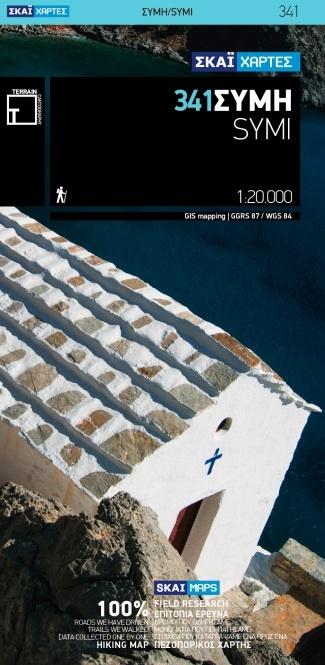 TM-341 Symi 1:20.000 9789606845925  Terrain Maps   Landkaarten en wegenkaarten, Wandelkaarten Egeïsche Eilanden