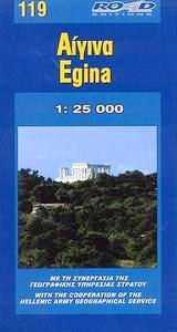 RE-119  Egina (Aegina) 1:25.000 9789608189188  Road Editions Ltd. Greek Islands  Landkaarten en wegenkaarten Egeïsche Eilanden