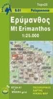 08.61  Mount Erimanthos 9789608195684  Anavasi Topo 25  Wandelkaarten Peloponnesos