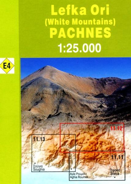 11.12 Kreta Lefka Ori, Pachnes 1:25.000 9789608195813  Anavasi Topo 25  Wandelkaarten Kreta