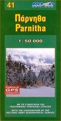 RE-041  Parnitha 1:50.000 9789608481459  Road Editions Ltd. Greek Mountains  Wandelkaarten Midden en Noord-Griekenland, Athene