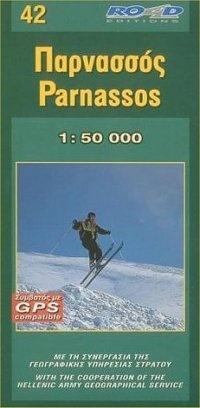 RE-042  Parnassos 1:50.000 9789608481770  Road Editions Ltd. Greek Mountains  Wandelkaarten Midden en Noord-Griekenland, Athene