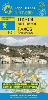 09.2  Paxoi  1:20.000 9789609137997  Anavasi Island Maps  Landkaarten en wegenkaarten Ionische Eilanden (Korfoe, Lefkas, etc.)