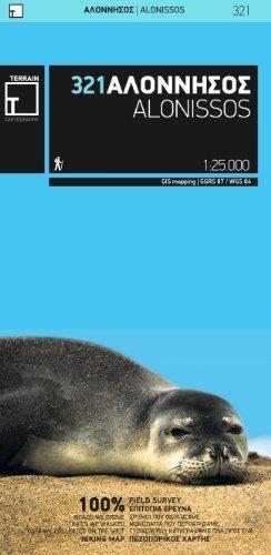 TM-321  Alonissos 1:25.000 9789609456081  Terrain Maps Northern Sporades  Wandelkaarten Egeïsche Eilanden