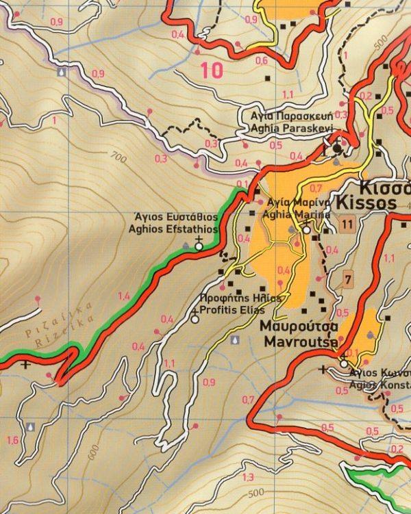 TM-218 Central Pelion (Pelion, Pilion) 1:25.000 9789609456173  Terrain Maps   Wandelkaarten Midden en Noord-Griekenland, Athene