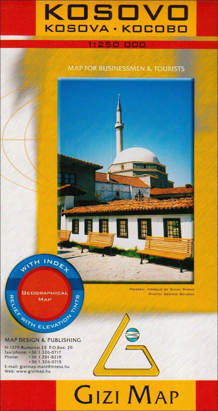Kosovo 1:250.000 9789630039208  Gizi Map   Landkaarten en wegenkaarten Servië, Bosnië-Hercegovina, Macedonië, Kosovo, Montenegro