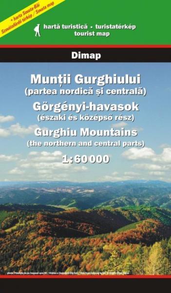 DMP-32  Muntii Gurghiului North & Centa | wandelkaart l 1:60.000 9789638683410  Dimap Wandelkaarten Roemenië  Wandelkaarten Roemenië, Moldavië