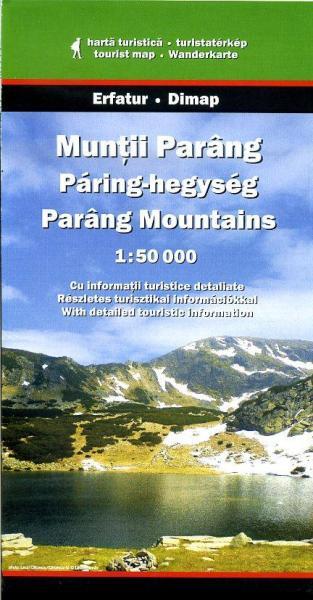 DMP-27  Muntii Parang | wandelkaart 1:50 000 9789638683434  Dimap Wandelkaarten Roemenië  Wandelkaarten Roemenië, Moldavië