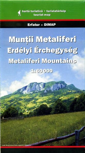 Metaliferi Mountains Map   wandelkaart 1:60.000 9789638845436  Dimap   Wandelkaarten Roemenië, Moldavië