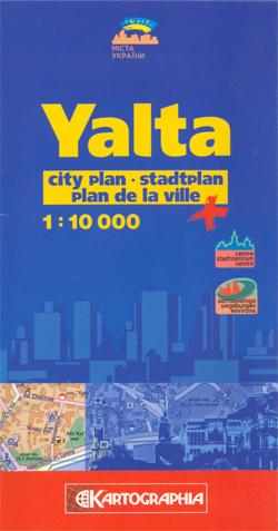 Yalta City Map 1:10.000 9789666315765  SSPE Kartografia   Stadsplattegronden Oekraïne