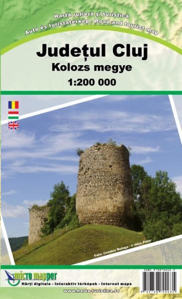 Cluj County (Judet Cluj) 1:200.000 9789738700635  Dimap   Landkaarten en wegenkaarten Roemenië, Moldavië