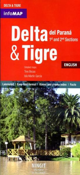Delta del Parana + Tigre 1:78.000 9789872296087  InfoMap   Wandelkaarten Argentinië