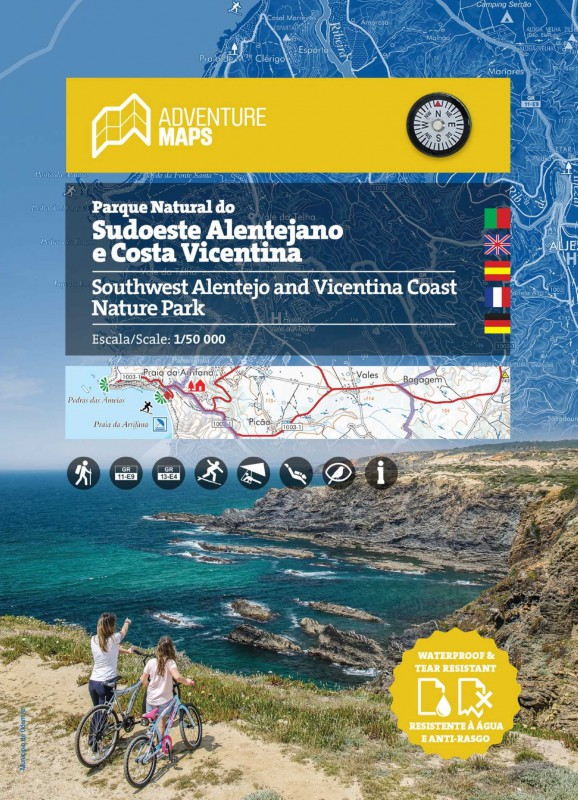Parque Natural do Sudoeste Alentejano e Costa Vicentina | wandelkaart 1:50.000 9789895405220  Adventure Maps   Wandelkaarten Zuid-Portugal, Algarve