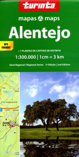 Alentejo 1:300.000 9789895560943  Turinta   Landkaarten en wegenkaarten Zuid-Portugal, Algarve