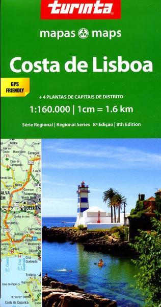 Costa de Lisboa 1:160.000 9789895560967  Turinta   Landkaarten en wegenkaarten Noord en Midden-Portugal, Lissabon
