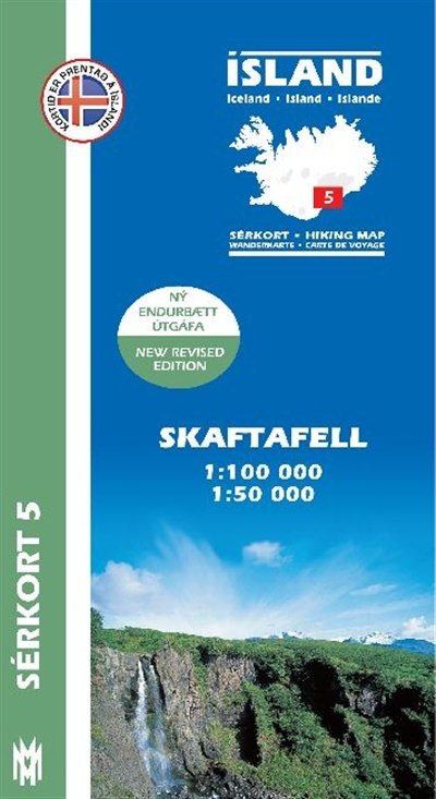 SK-05  Skaftafell 1:100 000 / 1:50 000 9789979330363  Mal og Menning Sérkort  Wandelkaarten IJsland