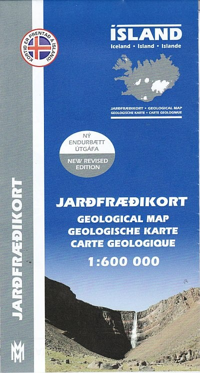 Iceland 1:500.000 Geological Map 9789979334644  Mal og Menning Nature Maps  Natuurgidsen IJsland