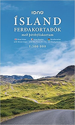 Ijsland pocket reisatlas Ferdakort 1:500.000 9789979673910  Ferdakort   Wegenatlassen IJsland