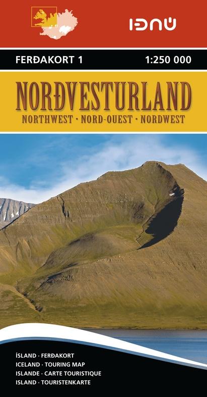 FK1  Nordurland 1:250.000 (Noordwest-IJsland) 9789979674214  Landmaelingar Islands Ferdakort 1:250.000  Landkaarten en wegenkaarten IJsland