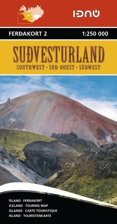 FK2  South West Iceland 9789979674221  Landmaelingar Islands Ferdakort 1:250.000  Landkaarten en wegenkaarten IJsland