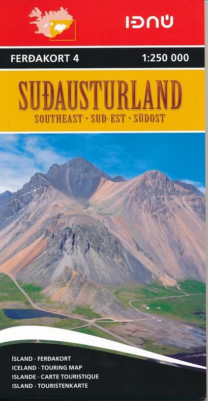 FK4  Zuidoost-IJsland 9789979674245  Landmaelingar Islands Ferdakort 1:250.000  Landkaarten en wegenkaarten IJsland