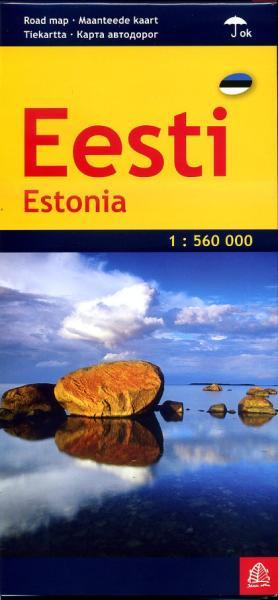 Eesti (Estland) 1:560.000 9789984075938  Jana Seta   Landkaarten en wegenkaarten Estland
