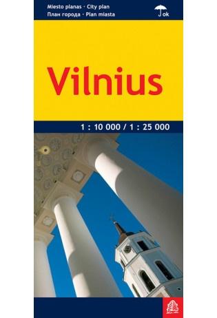 Vilnius 1:10.000 / 1:25.000 9789984075983  Jana Seta   Stadsplattegronden Vilnius & Litouwen