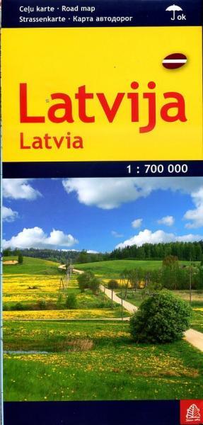 Latvija (Letland) 1:700.000 9789984075990  Jana Seta   Landkaarten en wegenkaarten Letland
