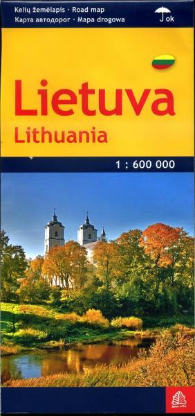 Lietuva (Litouwen) 1:600.000 9789984076003  Jana Seta   Landkaarten en wegenkaarten Vilnius & Litouwen