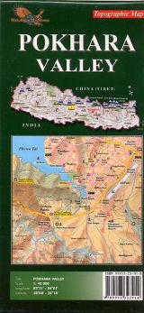Pokhara Valley map 1:50.000 9789993323914  Nepa Maps Wandelkaarten Nepal  Wandelkaarten Nepal
