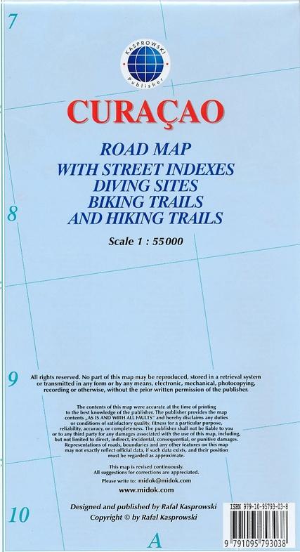 Curaçao 1:55.000 9791095793038  Kaprowski Maps   Landkaarten en wegenkaarten Aruba, Bonaire, Curaçao