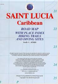 Saint Lucia 1:45.000 9791095793083  Kaprowski Maps   Landkaarten en wegenkaarten Overig Caribisch gebied