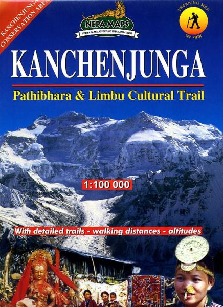 Kangchenjunga 1:100.000 9799993323340  Himalayan MapHouse Wandelkaarten Nepal  Wandelkaarten Nepal