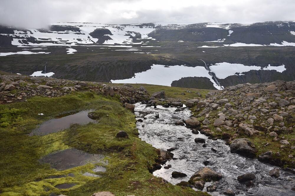 Zware tocht wandelen IJSland hornstrandir